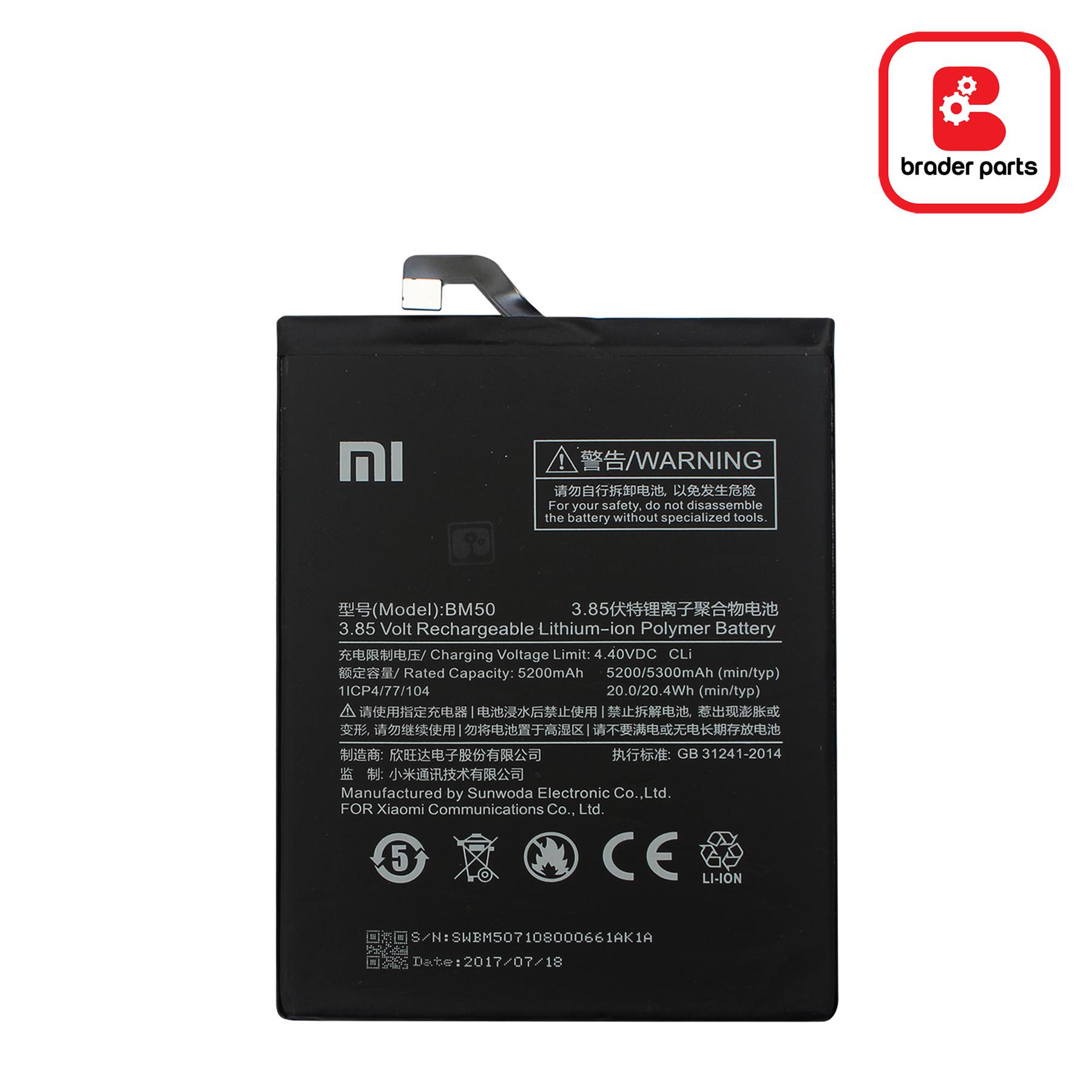 Baterai Xiaomi MI MAX 2 BM50