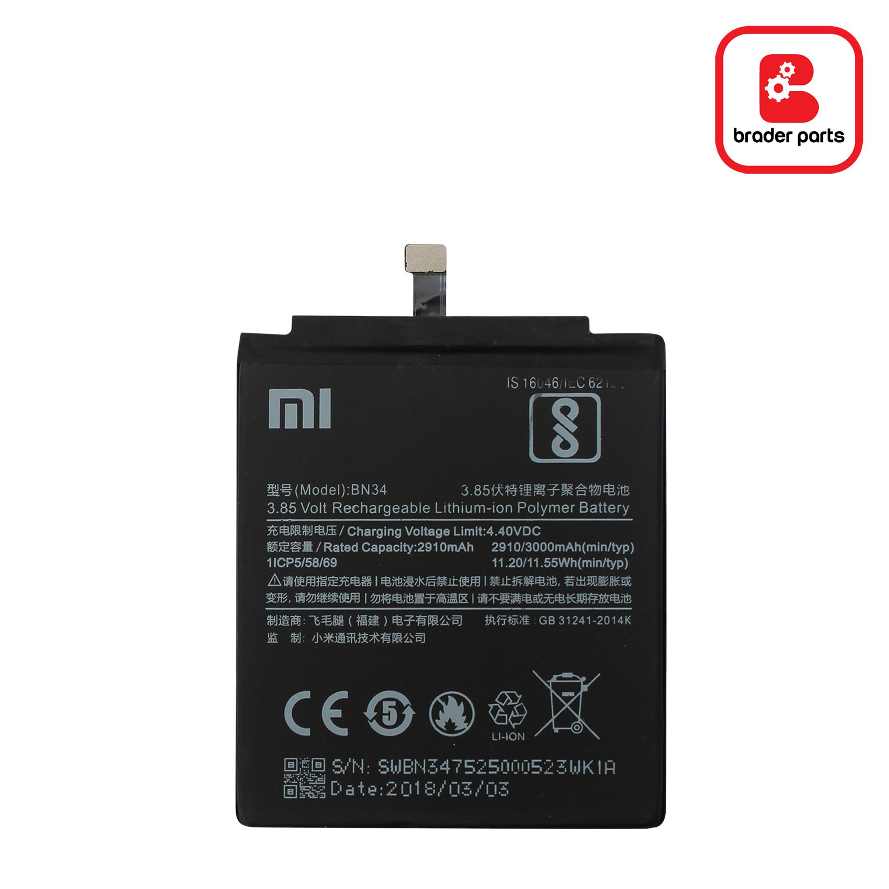 Baterai Redmi 5A BN34