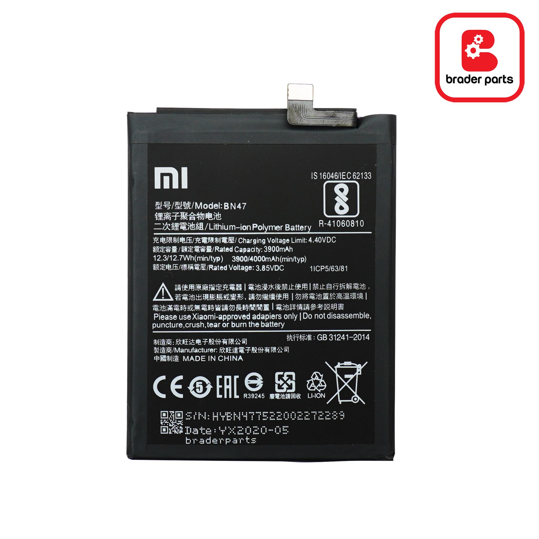 Baterai Xioami MI A2 Lite /Redmi 6 Pro BN47