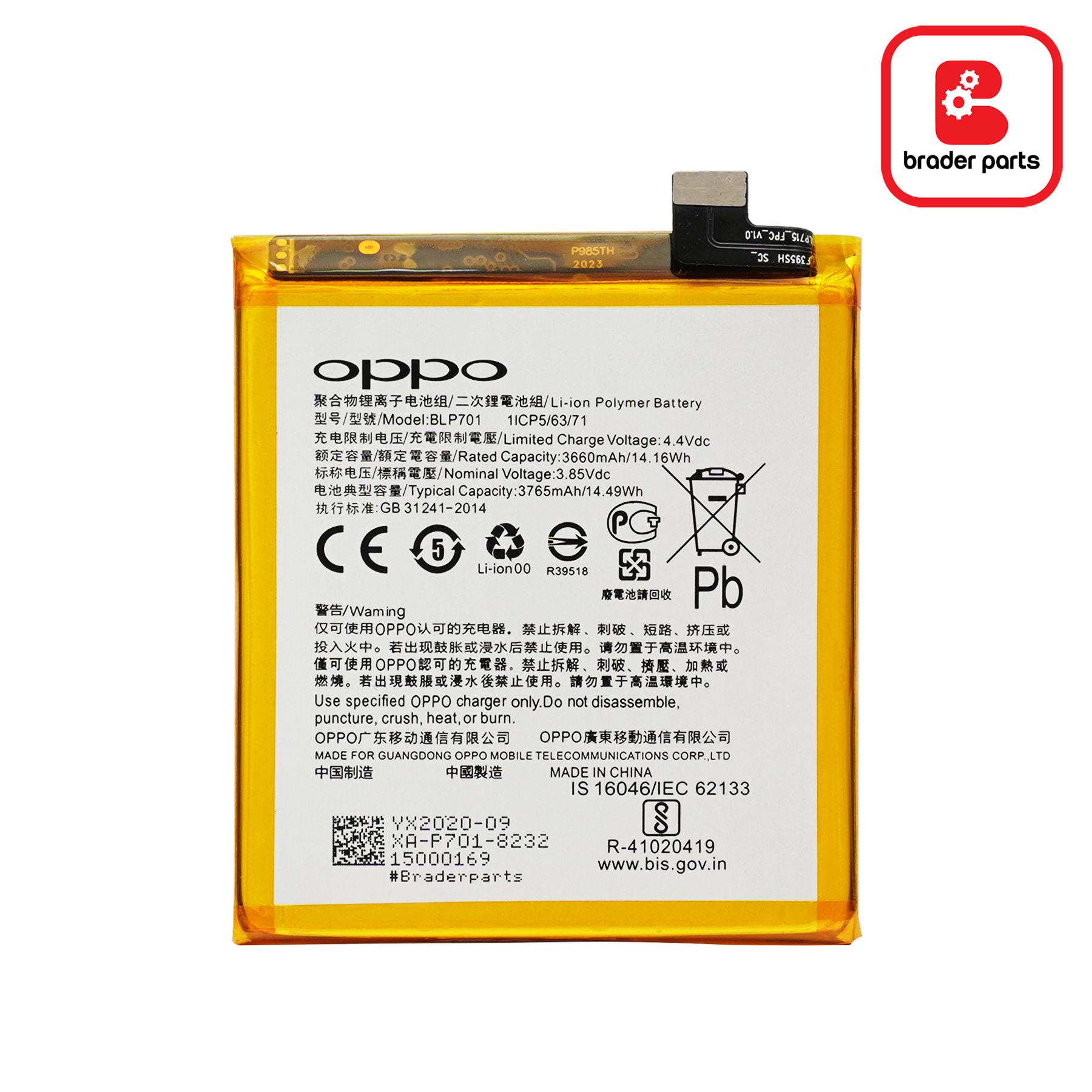 Baterai Oppo Reno Z BLP701