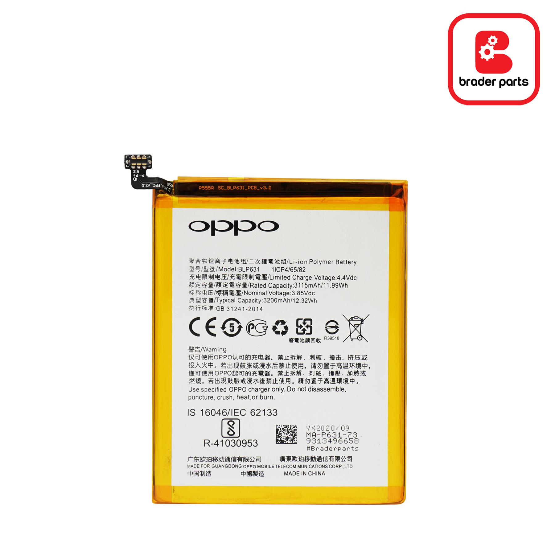 Baterai Oppo A77 /A73 BLP631
