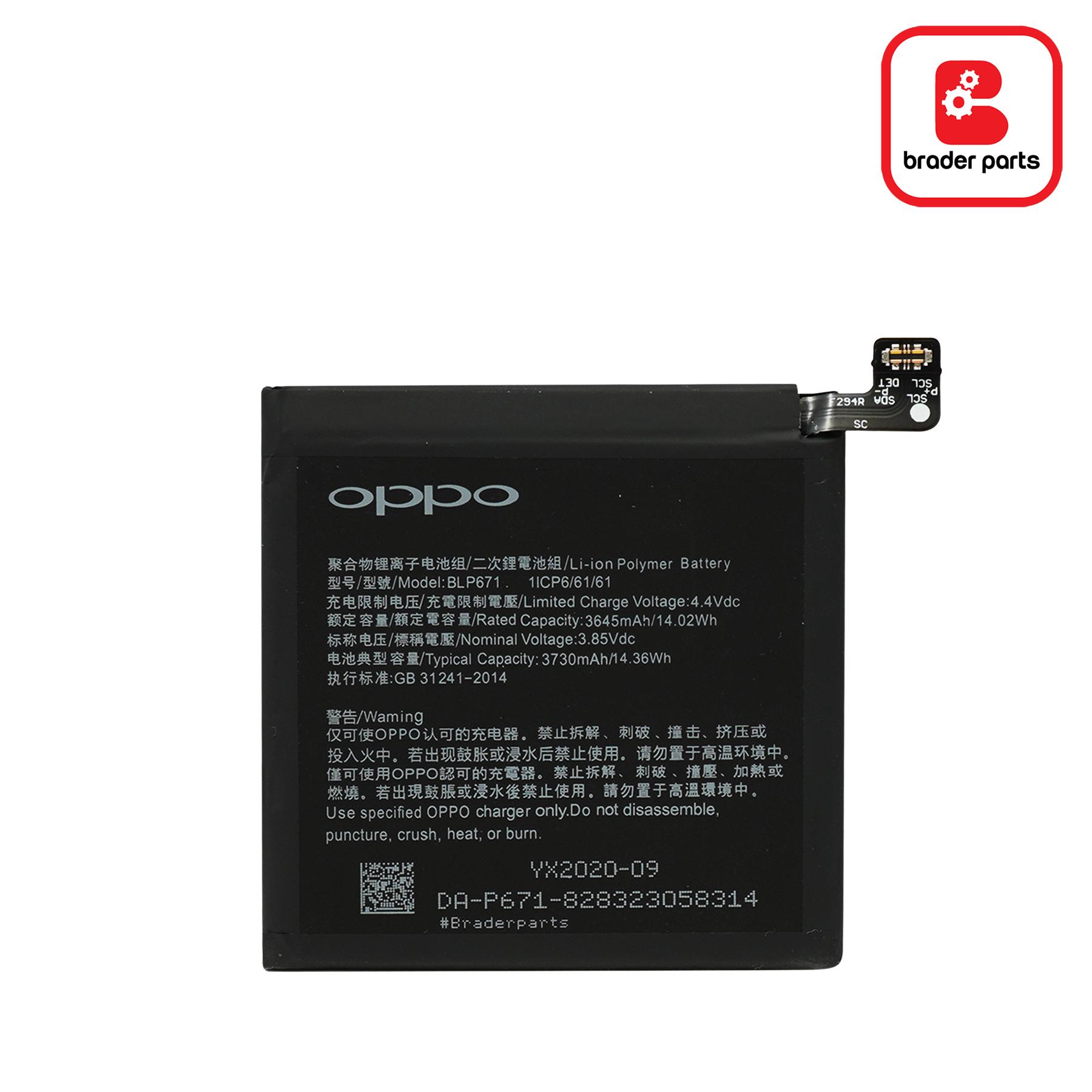 Baterai Oppo Find X BLP671