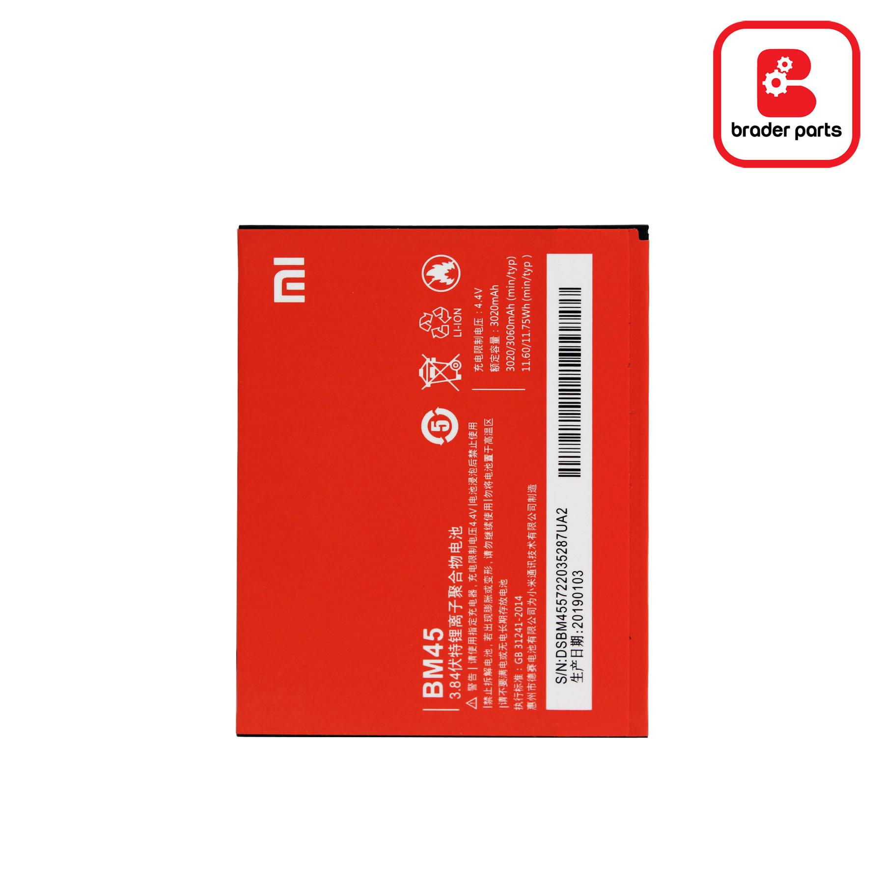 Baterai Redmi Note 2 BM45
